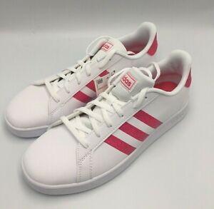 Adidas Grand Court K white/Pink Glitter Big Kids/ Choose Size