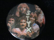 Styx-Group Shot-Tommy Shaw-Small-Button-80&#039 ;s Vintage-Rare