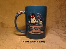 Disneyland Minnie Mouse Cuties Coffee Tea Hot Choc Mug Retired 12 oz Blue