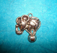 Elephant Charm Tibetan Silver 21.5mm Circus Animal Ball Clowns Circus Tricks