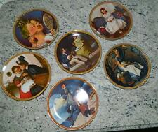 Norman Rockwell Rediscovered Women Set of 6 Knowles Collector Plates, pristine