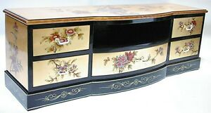 """oriental furniture 48"""" TV cabinet, Chinese gold leaf  lacquer TV stand,"""