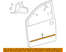 TOYOTA OEM 06-08 Sienna FRONT DOOR-Body Side Molding Left 7573208030A1