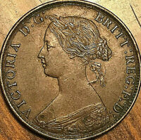 1864 NEW BRUNSWICK LARGE 1 CENT PENNY COIN - Small 6 - Fantastic example!