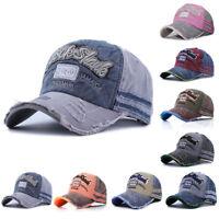 New Vintage Baseball Cap Men Women Adjustable Denim Distressed Trucker Hat