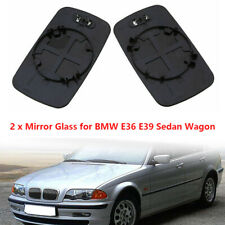 2PCS Car Door Wing Mirror Glass Heated Lens For BMW E46 98-06 E39 97-03 Sedan