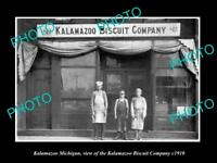 OLD LARGE HISTORIC PHOTO OF KALAMAZOO MICHIGAN THE KALAMAZOO BISCUIT Co c1910