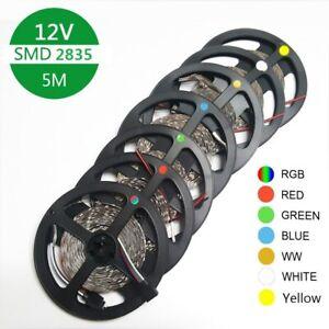 LED Strip tape Lamp 5m 60led/m SMD2835 DC12V Flexible Led Strip light RED
