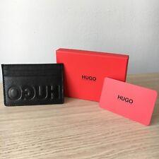 Hugo Boss Men's 'Victorian L_S card' Black Leather Card Holder Wallet, 50380111