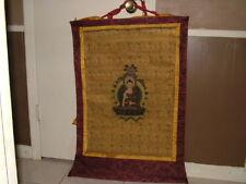 "19""x27"" VINTAGE ORIGINAL TIBETAN BUDDHISH THANKA HAND PAINTED ON SILK NEPAL"