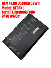 NEW 52WH OEM BT04XL Battery HP EliteBook Folio 9470M 9480M HSTNN-DB3Z HSTNN-IB3Z
