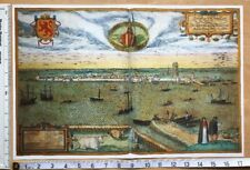 Antique Map of Dordrecht, Netherlands: 1575 by Braun & Hogenberg REPRINT 1500's