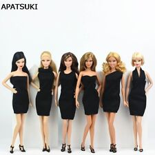 "6pcs Black Little Dress For 11.5"" Doll Evening Dresses Clothes For 1/6 Dolls"