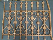 Architectural Salvage Wrought Iron Window Grate Filigree Arrow Point Top
