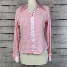 VTG Hobby Horse western show shirt- Pink-BREAST CANCER EDITION 1X USA