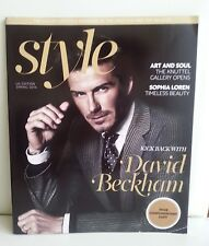 DAVID BECKHAM KICKS BACK~STYLE MAGAZINE LAS VEGAS~US EDITION SPRING 2014