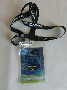 lanyard + pass gaming festival 2015 INSOMNIA Industry VIP pass at NEC