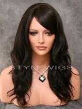 Dark Brown Long Layered Beach Wavy Heat Safe Full Synthetic Wig Hairpiece SASU 4