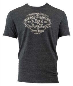 Lucky Brand Men Thermal Short Sleeve Graphic Tee - Black - XXL