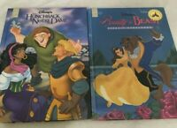 Lot of 2 Walt Disney Classic HC Beauty Beast Hunchback Notre Dame  Mouse Works