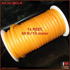 Rubber tubing - semi-clear latex - 5x10 mm - reel of 50 ft / 15 meter