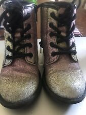 The Childrens Place Glitter Combat Boots, Toddler Size 8, NICE!