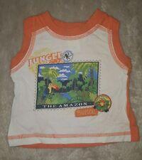 BABY BOYS Sz 000 orange & white TARGET jungle singlet / tank top COOL! CUTE!