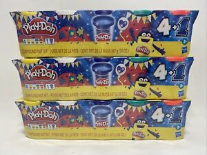 Lot of 3 (15 Cans, 60oz Total) Play-Doh Sapphire Celebration 5-Pack, Kids 3+
