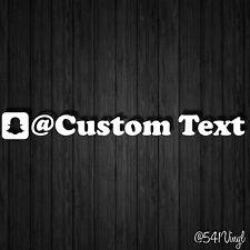 "Custom Snapchat Handle 9"" Vinyl Decal sticker username illest fatlace jdm funny"