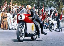 Mike Hailwood MV Agusta 500 Isle of Man TT Racing Classic Motorbike Art Print