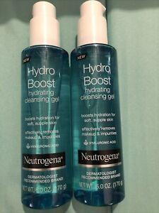 Neutrogena Hydro Boost Face Wash Facial Cleansing Gel Cleanser Sensitive 6oz X2