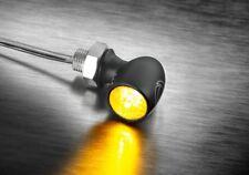 2 Kellermann Micro LED Bullet ATTO Turn Signals Black Pair Indicators Mini
