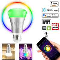 Wifi Smart Bulb LED Light Dimmable E27 Work With Amazon Alexa Google Home IFTTT
