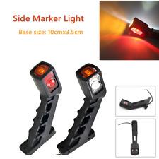 2PCx 10-30V Truck Trailer LED Side Marker Light Extension Indicator Brake Amber