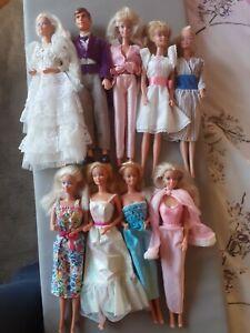 1980s superstar barbie todd doll lot x 9 perfume pretty crystal wedding