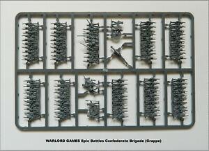 WARLORD GAMES Epic Battles Grappe Confederate Brigade Figurines 15mm plastique