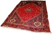Semi-Antique Hamedan Crimson & Slate Gray Area Rug 10' x 7'