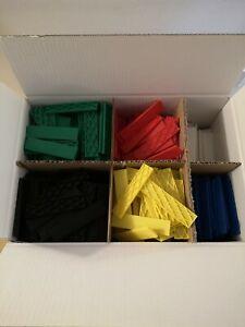 Set 900 St Kunststoffklötze, Verglasungsklötze, Unterleger 100x24x1-6 mm