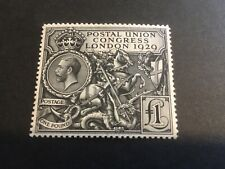 More details for great britain - 1929 puc £1 stamp - sg 438 - lightly mounted mint - cat £750