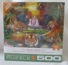Eurographics Puzzle Jigsaw Puzzles TIGER'S EDEN 500 Pcs #8500-5457 NEW
