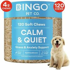 LARGE PACK Calming Treats Dog Anxiety Relief for Dogs 100% Organic Hemp Oil Chew
