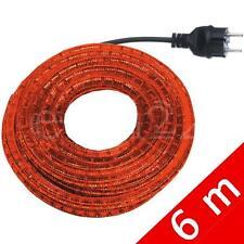 6m Lichtschlauch Lichterschlauch Lichterkette Deko rot