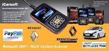 BEST iCarsoft i907 Renault Fault Code Scanner /Reset /Diagnostics /Airbag /ABS