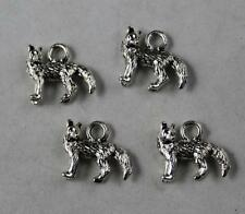 Free shipping 30pcs Retro style lovely Wolf alloy charms pendants 14x12mm
