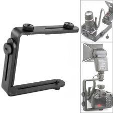 L-Bracket Adjustable Shoe Mount for DSLR SLR Camera Camcorder Video Light Flash
