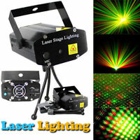 Mini Black LED R&G Laser Stage Lighting Adjustment Disco DJ Club Party Projector