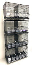 Lot of 4 Bird Flgiht Finch Canary Breeder Breeding Cages With Center Dividers Bk