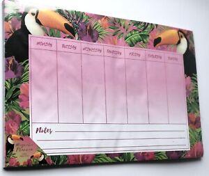 Toucan Magnetic Days Of Week Fridge Planner Memo Schedule Message Organiser