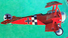 """FOKKER DR-1 PLAN + CONSTRUCTION ARTICLE for 35"""" King-Size UC Model Airplane"""