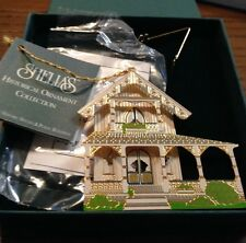 Shelia'S White Cottage Ornament - Or 017